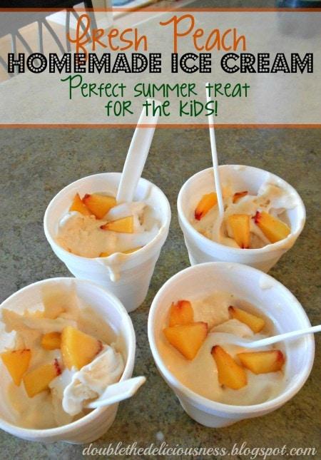 fresh peach ice cream for kids