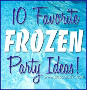 10 Favorite Frozen Party Ideas (she: Mariah)