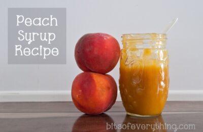 peach syrup