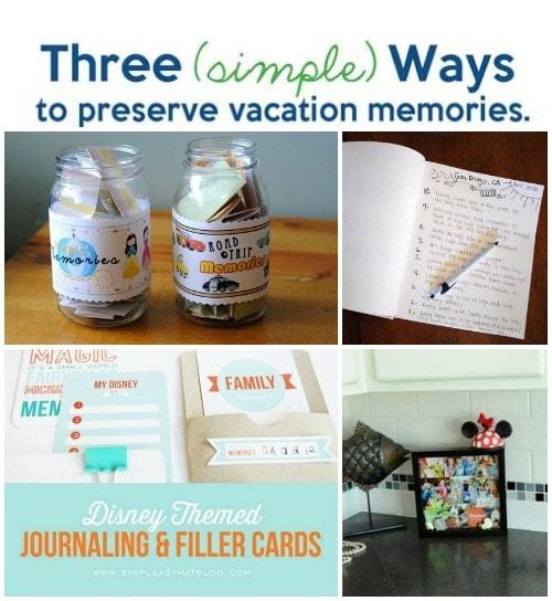 preserve vacation memories