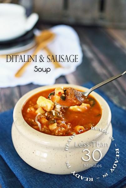 Ditalini Sausage Soup from kleinworthco.com