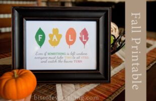 fall leaves printable