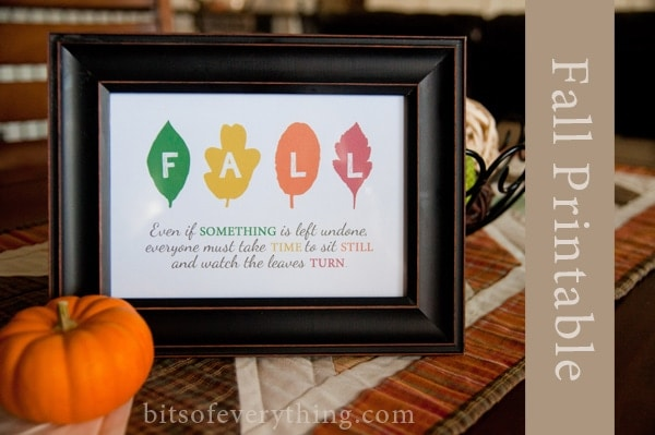 Fall Leaves Printable (she: Holly)