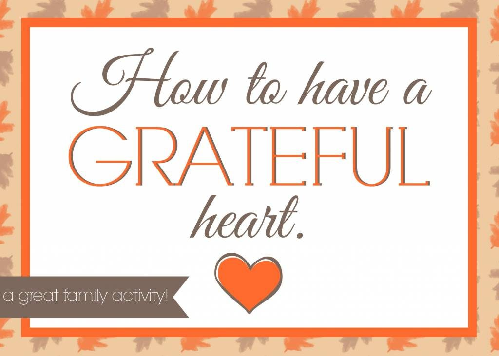 Have a grateful heart!!