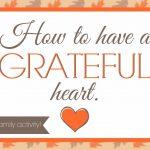 Family Night on Gratitude (she: Veronica)