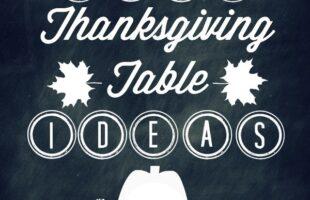 Kids' Thanksgiving Table Decor – Lots of Printables (she: Brooke)