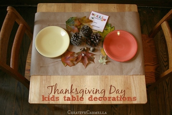 thanksgiving kids' table idea