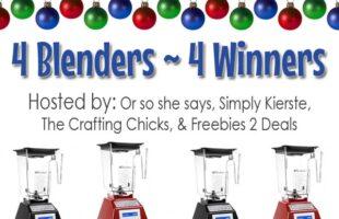 Blendtec Blender Giveaway ~ 4 Blenders, 4 Winners!!