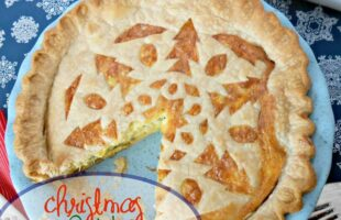 Christmas Quiche with Snowflake Crust (she: Jana)