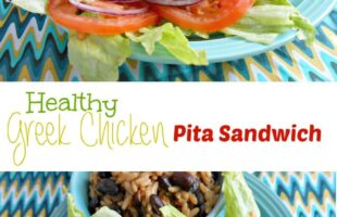 healthy greek chicken pita sandwich