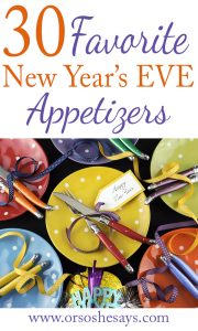 30 Appetizers for New Year's Eve Parties