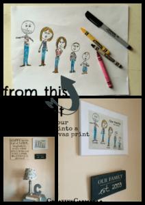 DIY Canvas Art- Turn Kid Art into a Personalized Canvas (she: Carmella)