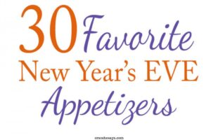 A roundup of the best New Year's Eve appetizers on www.orsoshesays.com #newyearseve #recipes, #appetizers
