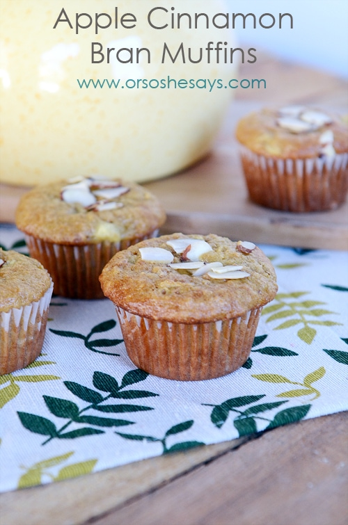 Apple Cinnamon Bran Muffins