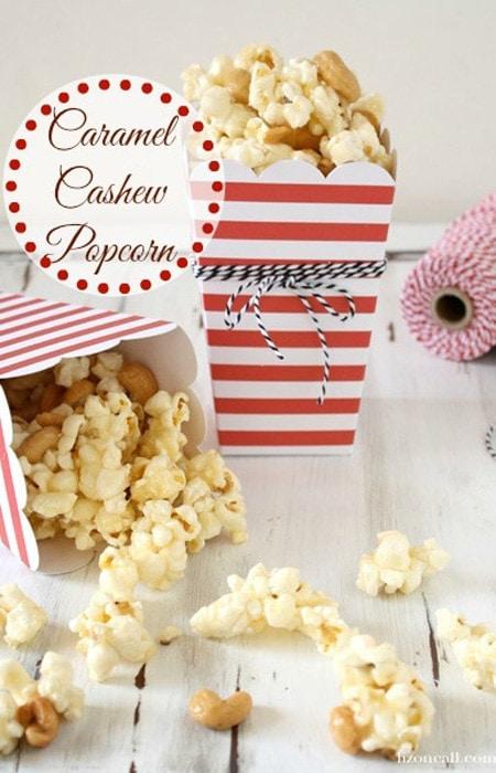 Caramel Cashew Popcorn Recipe