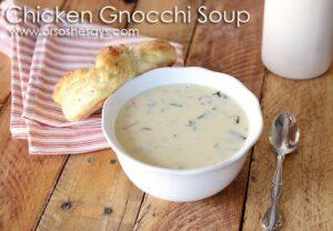 Chicken Gnocchi Soup ~ Olive Garden Knock-Off!