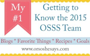 My #1 (she: Becky) ~ Getting to Know the 2015 OSSS Team!