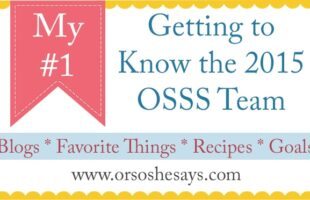 My #1 (she: Kiki) ~ Getting to Know the 2015 OSSS Team!