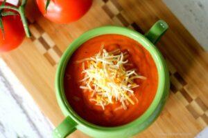 Rich Roasted Tomato Basil Soup Recipe (she: Jen from PinkWhen)