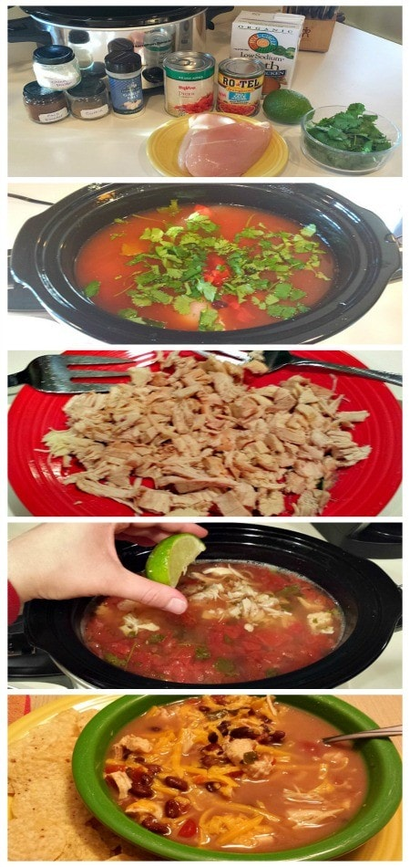 Santa Fe Chicken Soup step by step 450x950