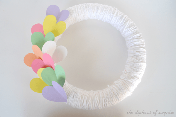 conversation heart inspired wreath