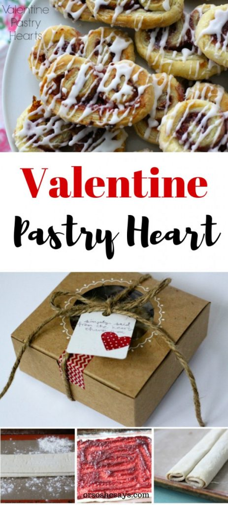 Easy and delicious, this Valentine pastry heart is sure to win over the recipient! orsoshesays.com #valentinesday #valentine #bemine #pastry #pastryheart