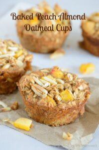 Baked Peach Almond Oatmeal Cups (she: Jen)