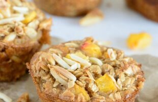 Baked Peach Almond Oatmeal Cups (she: Jen)