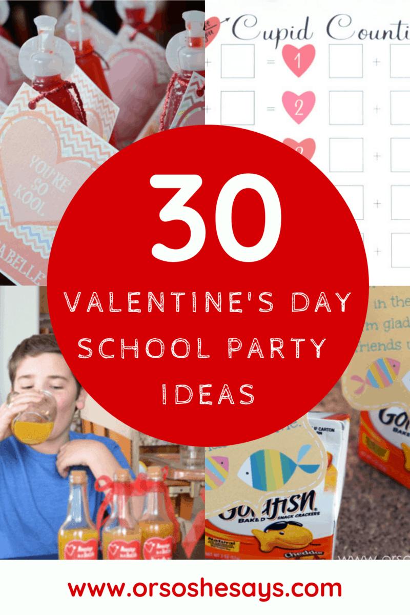 Valentine's Day School Party Ideas