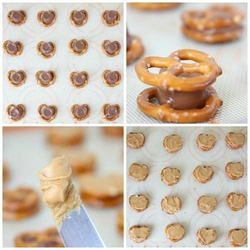 Chocolate Covered Caramel Stuffed Pretzels