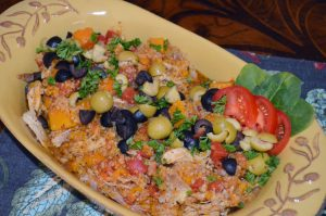 Hearty Chicken Stew w/ Butternut Squash & Quinoa ~ Olives from Spain