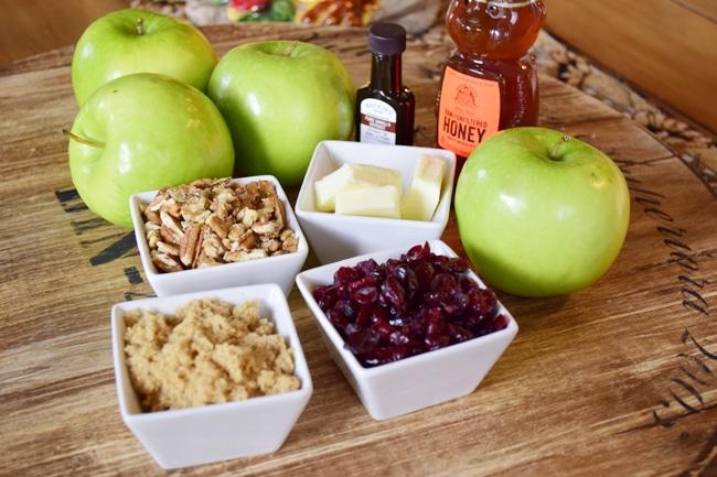 Pecan Craisin Baked apple 1