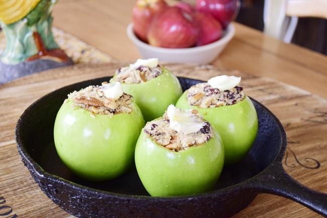 Pecan Craisin Baked apples 4
