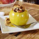 Pecan Craisin Baked apples