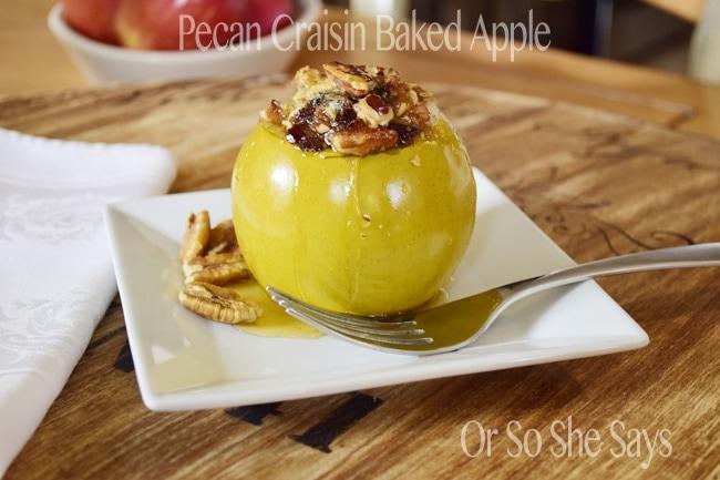 Pecan Craisin Baked apples 5
