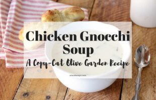 This Chicken Gnocchi Soup is a favorite Olive Garden copycat recipe. It's a perfect winter soup that's easy-to-make and family friendly! www.orsoshesays.com #chickensoup #gnocchi #olivegarden #chickengnocchisoup #soup