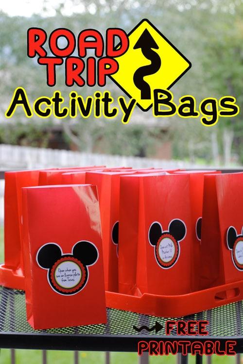 road trip activity bags