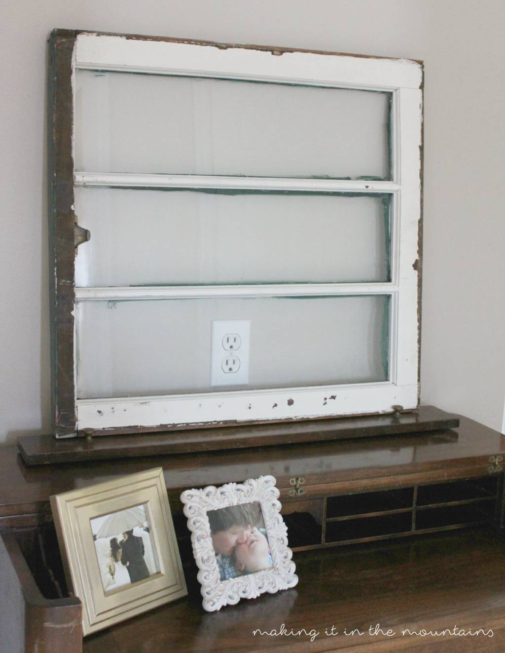 antique window makeover