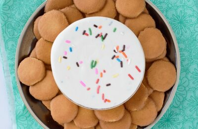 Funfetti Cheesecake Dip - Sweet cheesecake dip with funfetti sprinkles. So easy and perfect with graham crackers, vanilla cookies, or your favorite fruit. #dip #dessert #funfettidiprecipe #funfetti #sprinnkles #familyrecipe #ldsblogger #mormonblogger #mormon #lds #recipes #dessertrecipe #easyrecipe