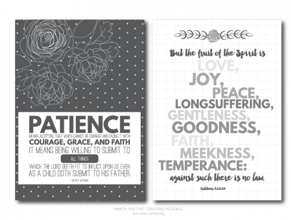 March 2015 Visiting Teaching Message Free Printable