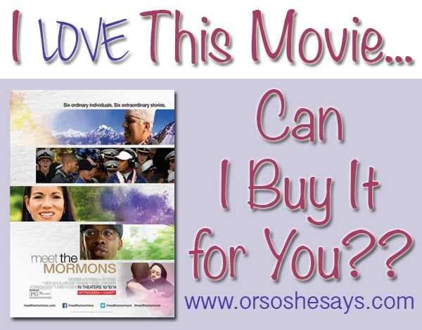 I loved this movie so much, that I want to buy it for YOU!! ~ Or so she says...