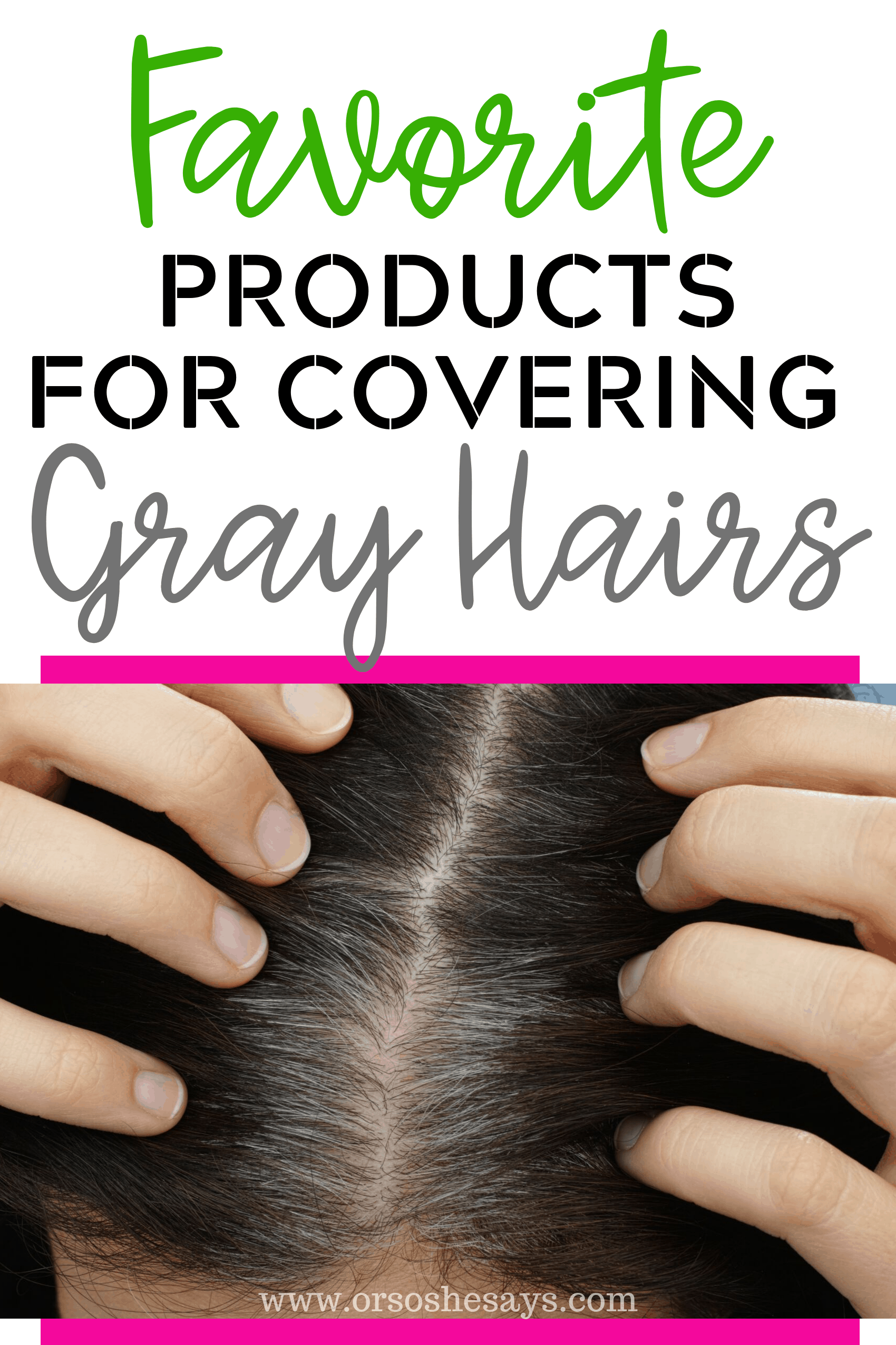 products for covering gray hair