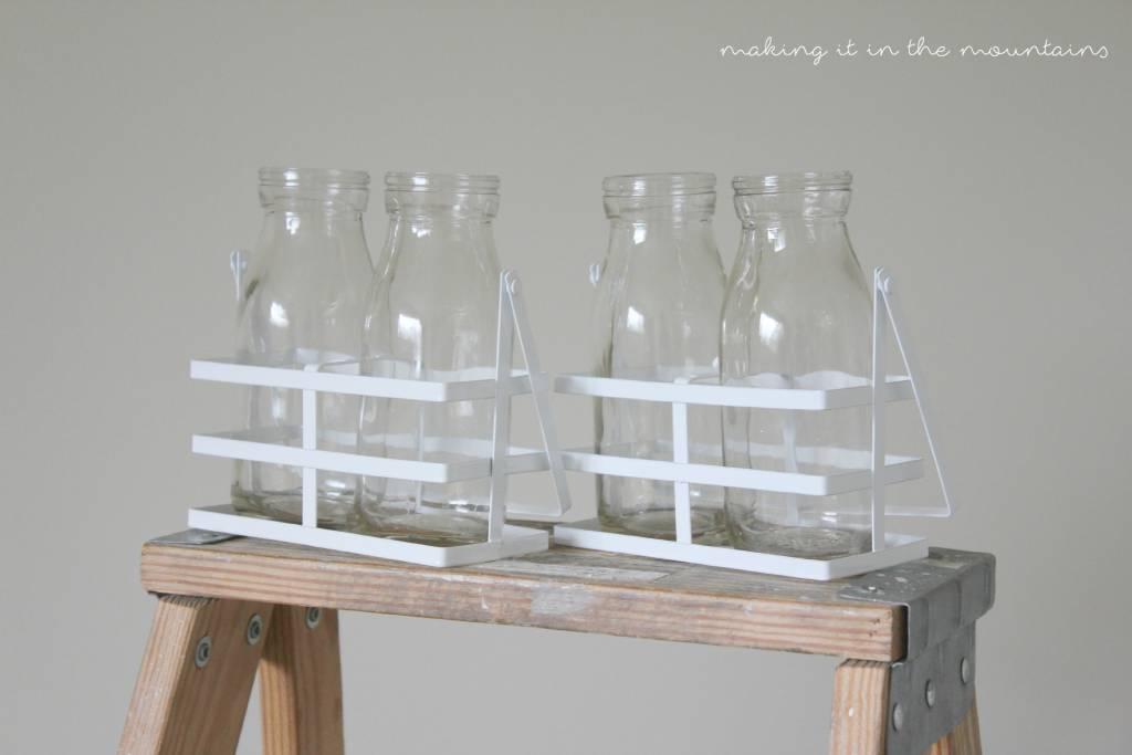 Milk bottle vases easy and perfect for summer she kristi for Easy break glass bottles