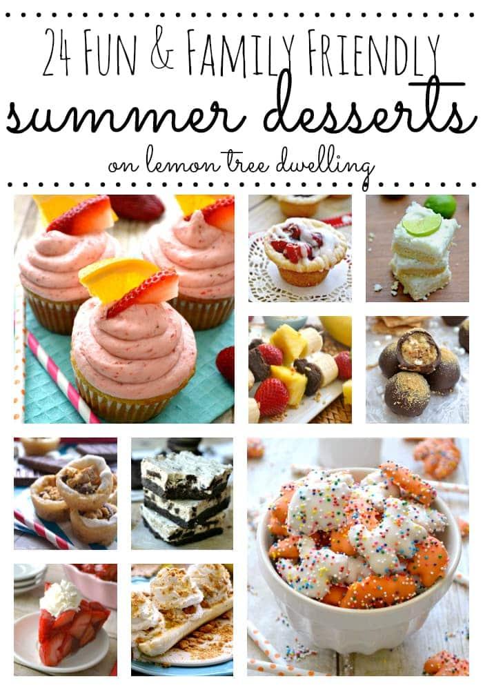 24 Summer Desserts Collage