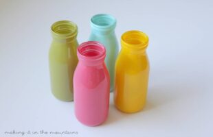 Easy Milk Bottle Vases so Perfect for Summer