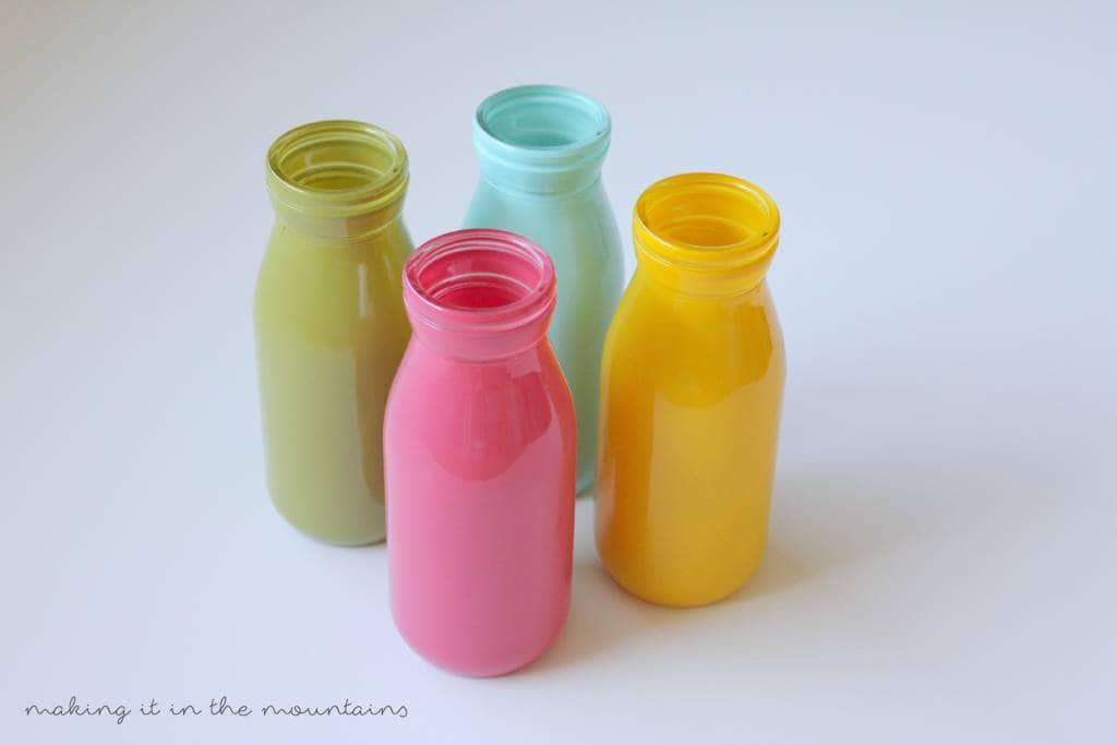 Easy Milk Bottle Vases so Perfect for Summer