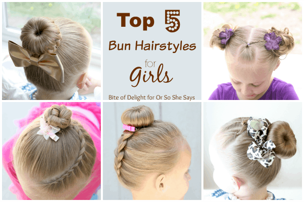 Top 5 bun hairstyles for girls bite of delight pmusecretfo Gallery