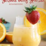 Sunshine berry spritzer - non alcoholic brunch beverage