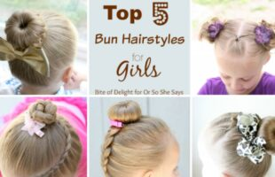 These cute bun hairstyles for girls will have you running for your combs and hairspray! #cutebunhairstyles #bunhairstyles #hairstylesforgirls #ldsblogger #lds #mormonblogger #mormon www.orsoshesays.com