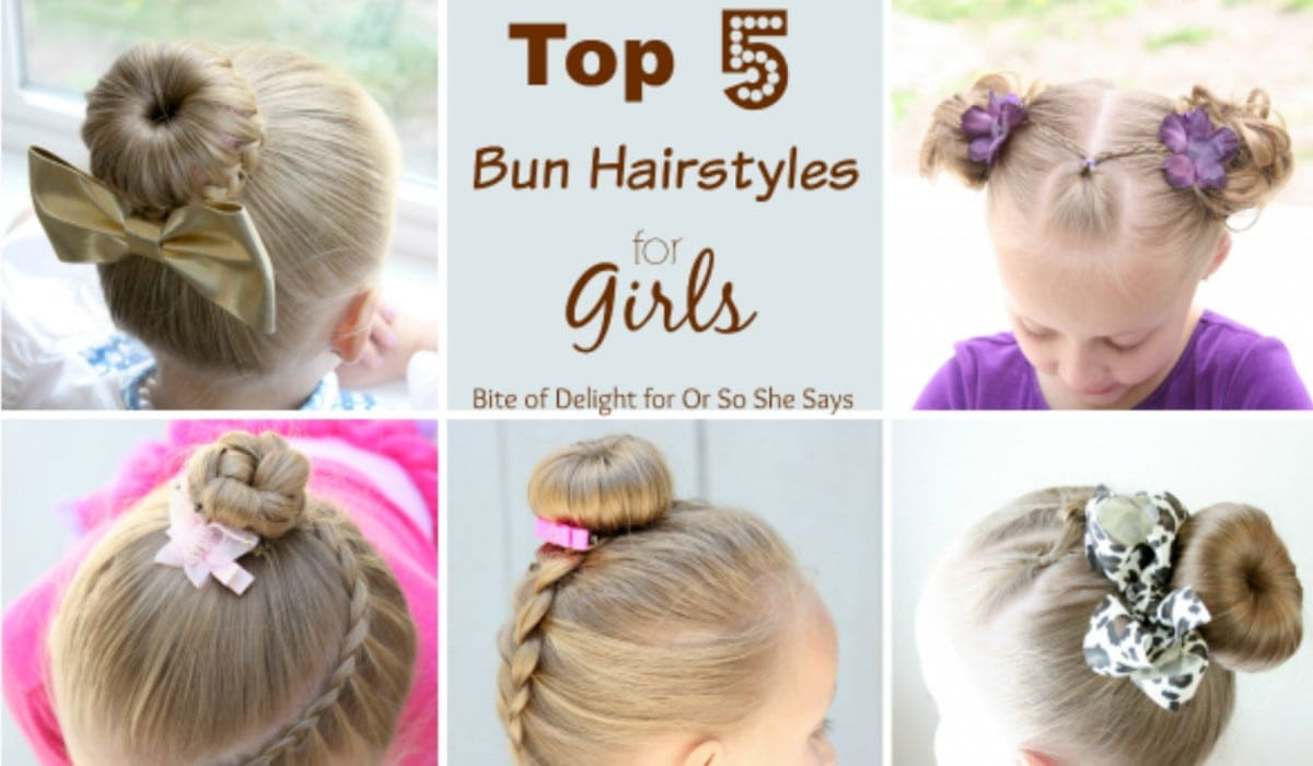 Cute Bun Hairstyles For Girls Our Top 5 Picks For School